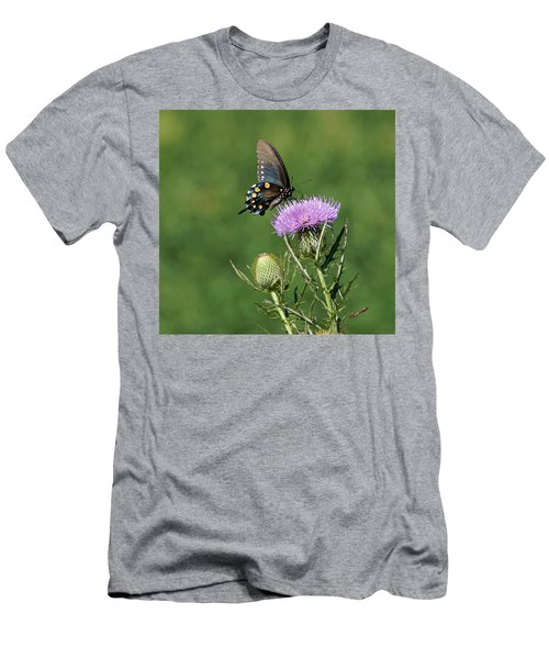 Men's T-Shirt (Slim Fit) featuring the photograph Pipevine Swallowtail by Sandy Keeton
