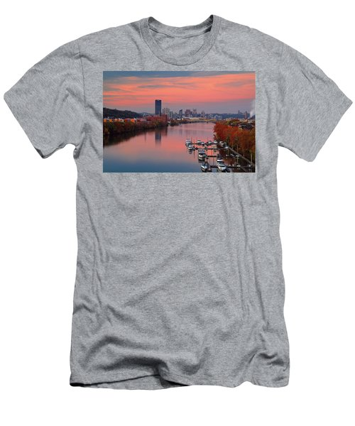 Pittsburgh 31st Street Bridge  Men's T-Shirt (Slim Fit) by Emmanuel Panagiotakis