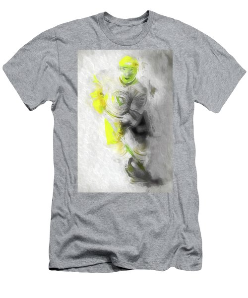 Men's T-Shirt (Slim Fit) featuring the photograph Pittsburgh Penguins Nhl Sidney Crosby Painting Fantasy by David Haskett
