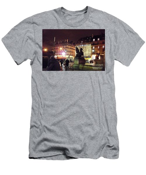 Place Saint-michel Men's T-Shirt (Slim Fit) by Felipe Adan Lerma
