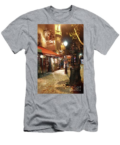 Place St Michel To Rue Saint-andre Des Arts Men's T-Shirt (Athletic Fit)