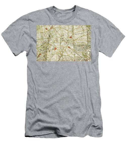 Men's T-Shirt (Slim Fit) featuring the photograph Plan Of Central London by Patricia Hofmeester