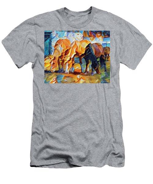 Plastic Horses Men's T-Shirt (Athletic Fit)