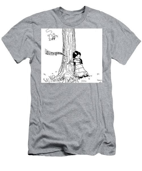 Play The Flute Under The Tree Men's T-Shirt (Athletic Fit)