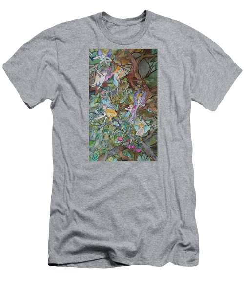 Playful Men's T-Shirt (Slim Fit) by Claudia Cole Meek