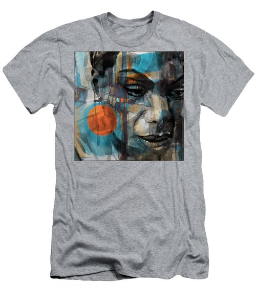Men's T-Shirt (Slim Fit) featuring the mixed media Please Don't Let Me Be Misunderstood by Paul Lovering
