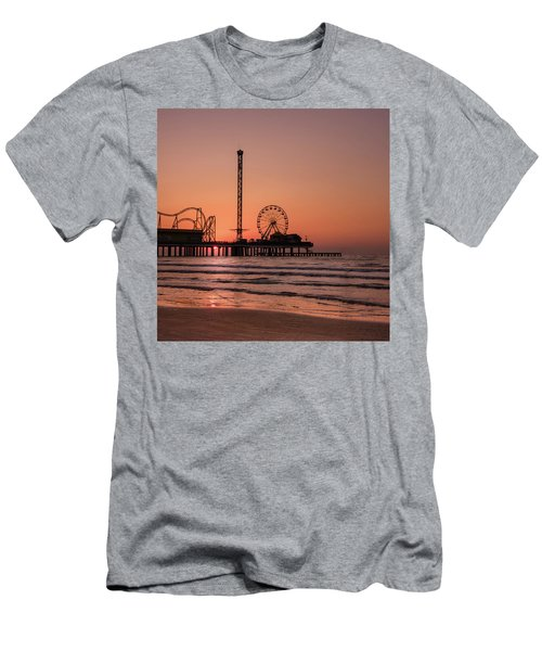 Pleasure Pier At Sunrise Men's T-Shirt (Athletic Fit)