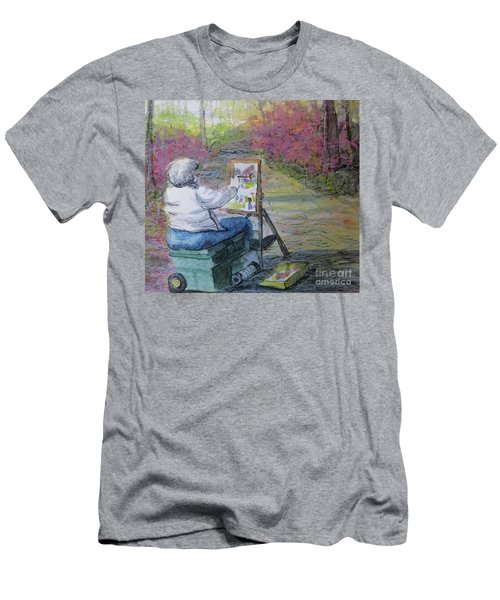 Plein-air Painter Lady Men's T-Shirt (Slim Fit) by Gretchen Allen