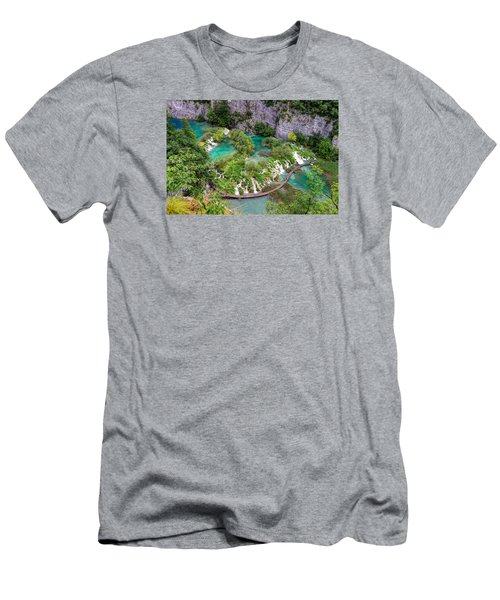 Plitvice Lakes National Park Men's T-Shirt (Athletic Fit)