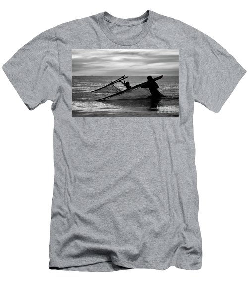 Plowing The Sea - Thailand Men's T-Shirt (Athletic Fit)
