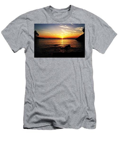 Plum Cove Beach Sunset G Men's T-Shirt (Slim Fit) by Joe Faherty