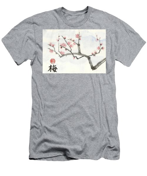 Plum Ume Branch Men's T-Shirt (Athletic Fit)