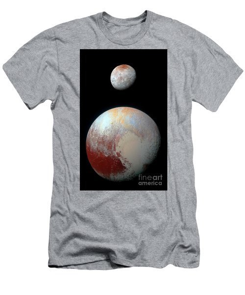 Men's T-Shirt (Slim Fit) featuring the photograph Pluto And Charon by Nicholas Burningham