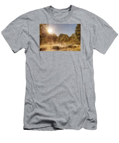 Plying Steamy Waters Men's T-Shirt (Slim Fit) by Robert Charity