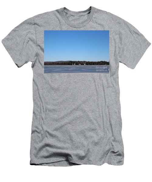 Poconos, The Lake In January Men's T-Shirt (Athletic Fit)
