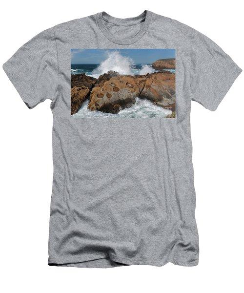 Point Lobos Concretions Men's T-Shirt (Slim Fit) by Glenn Franco Simmons