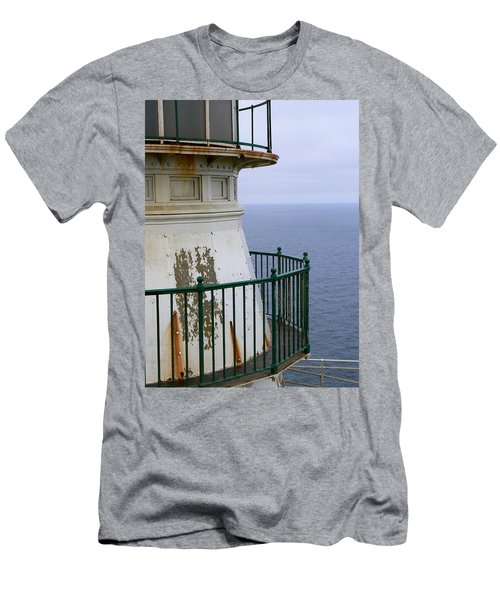 Point Reyes And The Pacific Ocean Men's T-Shirt (Slim Fit) by Laurel Powell