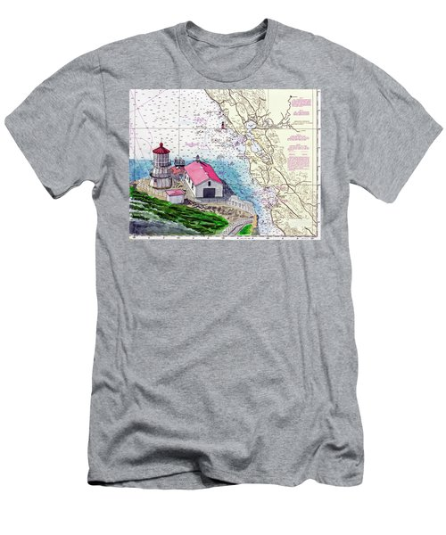 Point Reyes Light Station Men's T-Shirt (Slim Fit) by Mike Robles