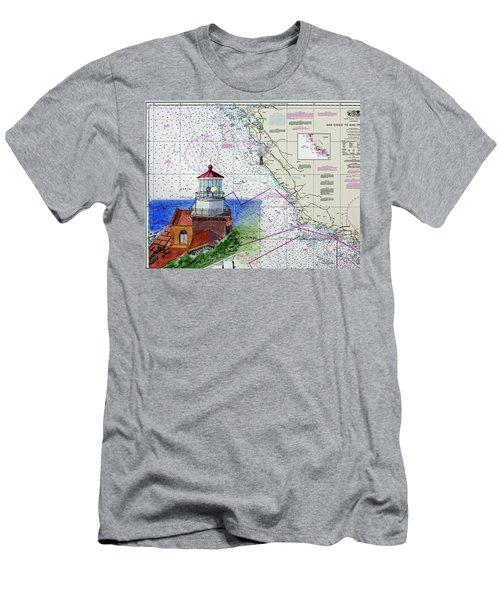 Point Sur Light Station Men's T-Shirt (Slim Fit) by Mike Robles