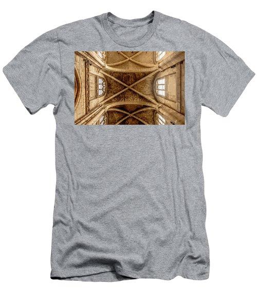 Poissy, France - Ceiling, Notre-dame De Poissy Men's T-Shirt (Athletic Fit)