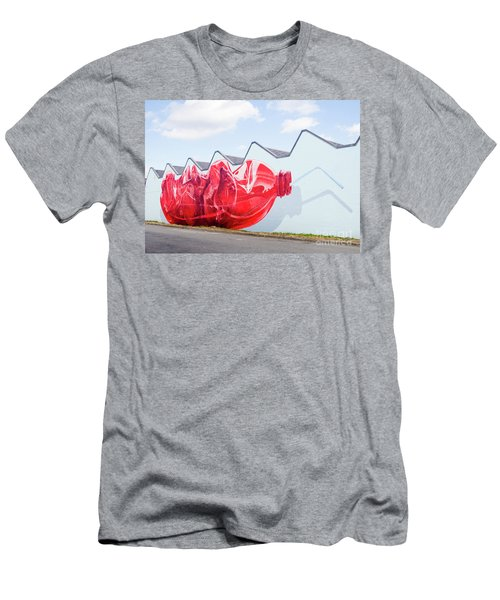 Men's T-Shirt (Slim Fit) featuring the photograph Polar Bear In A Coke Bottle by Chris Dutton