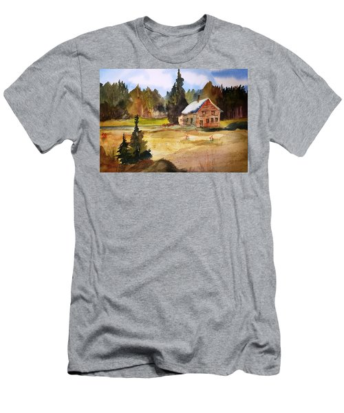 Polebridge Mt Cabin Men's T-Shirt (Athletic Fit)