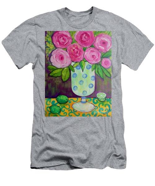 Polka-dot Vase Men's T-Shirt (Slim Fit) by Rosemary Aubut