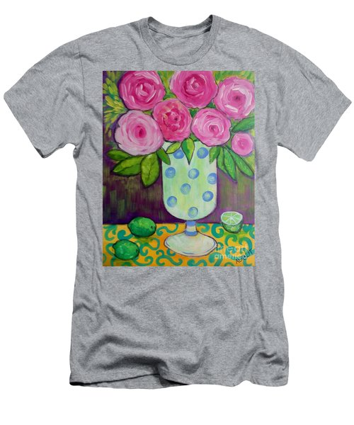 Polka-dot Vase Men's T-Shirt (Athletic Fit)
