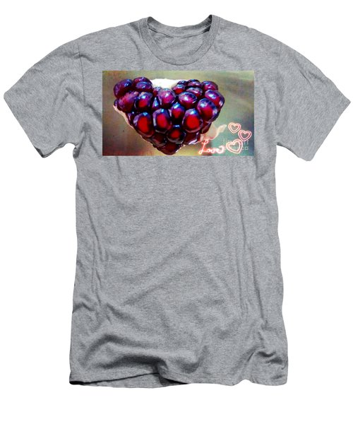 Men's T-Shirt (Slim Fit) featuring the digital art Pomegranate Heart by Genevieve Esson