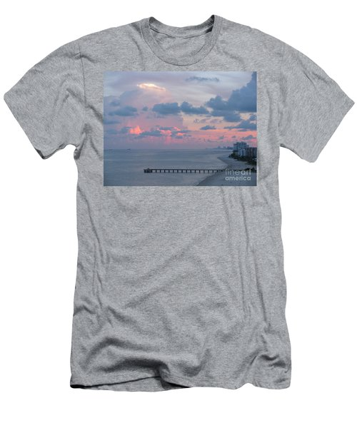 Pompano Pier At Sunset Men's T-Shirt (Athletic Fit)