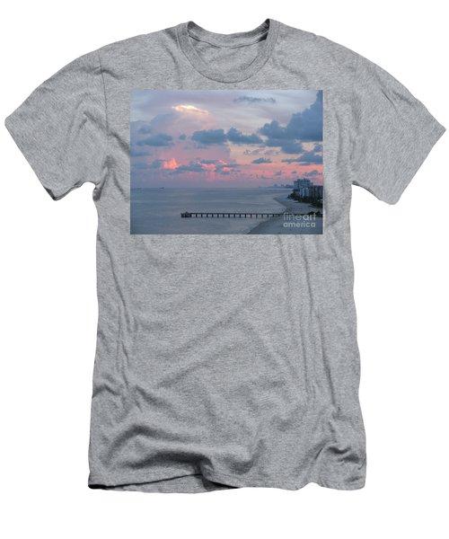 Pompano Pier At Sunset Men's T-Shirt (Athletic Fit)