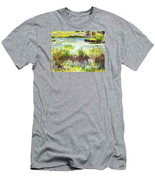 Pond And Plants Men's T-Shirt (Athletic Fit)