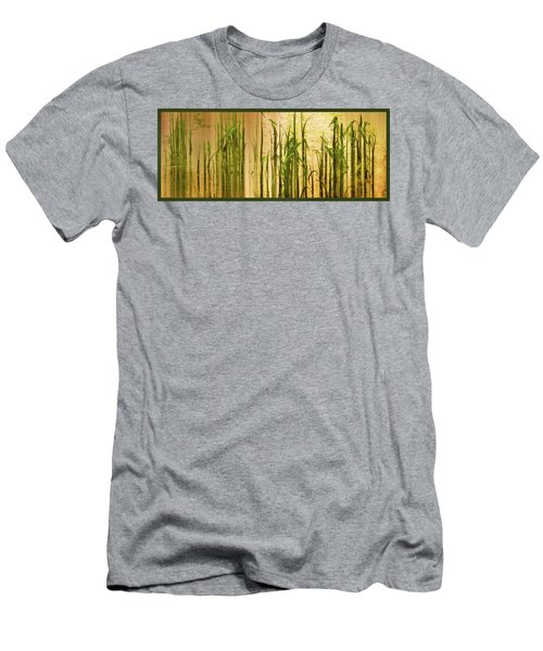 Pond Grass Abstract Panel Men's T-Shirt (Athletic Fit)