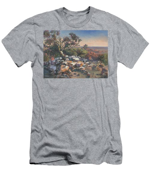 Pondering By The Canyon Men's T-Shirt (Athletic Fit)