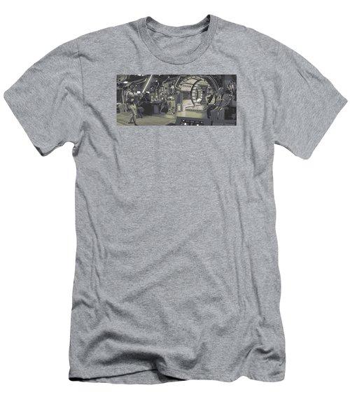 Pondering Chewie's Next Move Men's T-Shirt (Slim Fit) by Kurt Ramschissel
