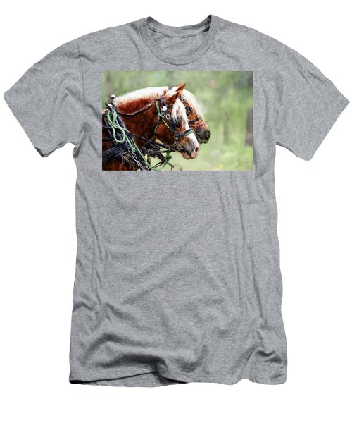 Ponies In Harness Men's T-Shirt (Athletic Fit)