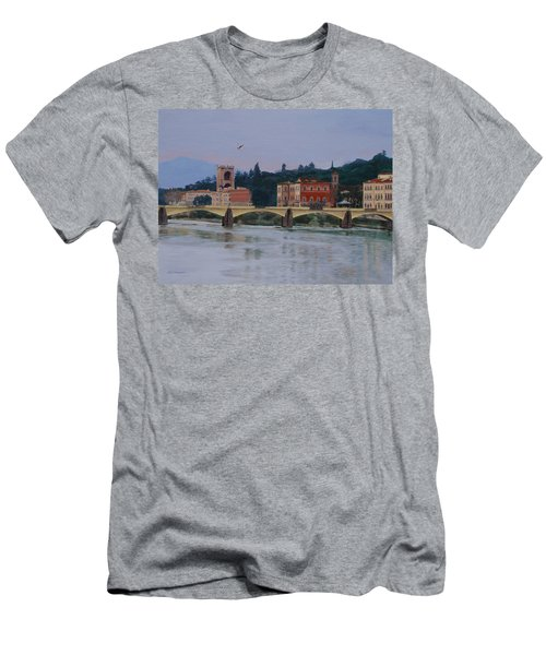 Pont Vecchio Landscape Men's T-Shirt (Athletic Fit)