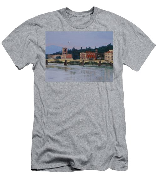 Ponte Vecchio Landscape Men's T-Shirt (Athletic Fit)