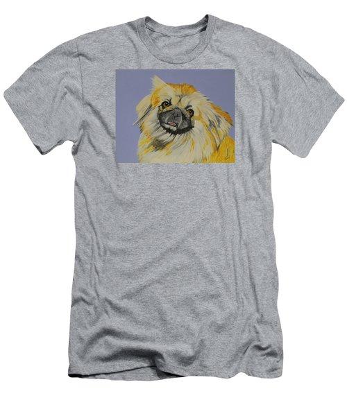 Poopan The Pekingese Men's T-Shirt (Slim Fit) by Hilda and Jose Garrancho