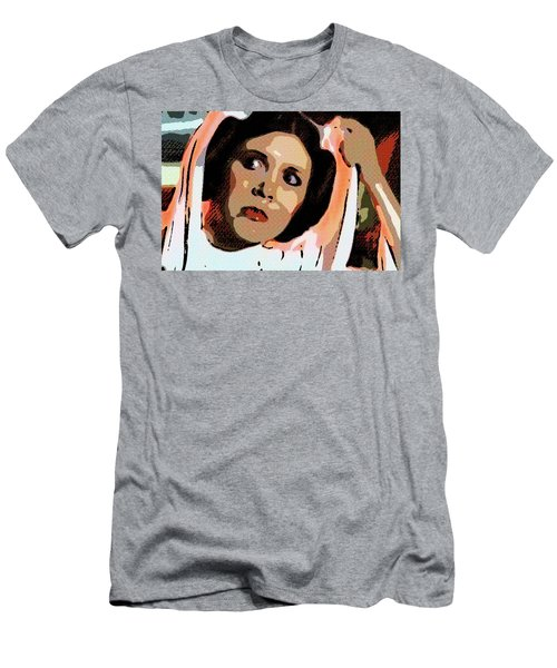 Pop Art Princess Leia Organa Men's T-Shirt (Athletic Fit)