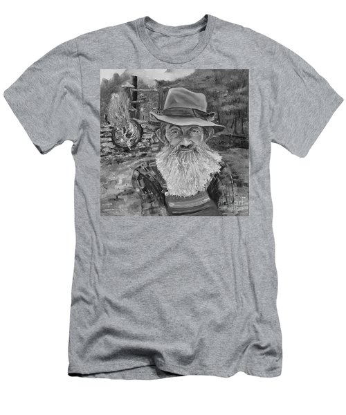 Popcorn Sutton - Black And White - Rocket Fuel Men's T-Shirt (Athletic Fit)