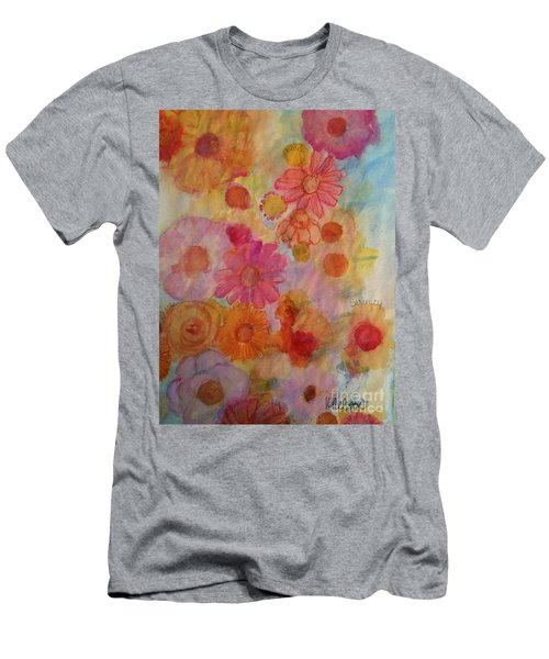 Men's T-Shirt (Slim Fit) featuring the painting Popping by Kim Nelson
