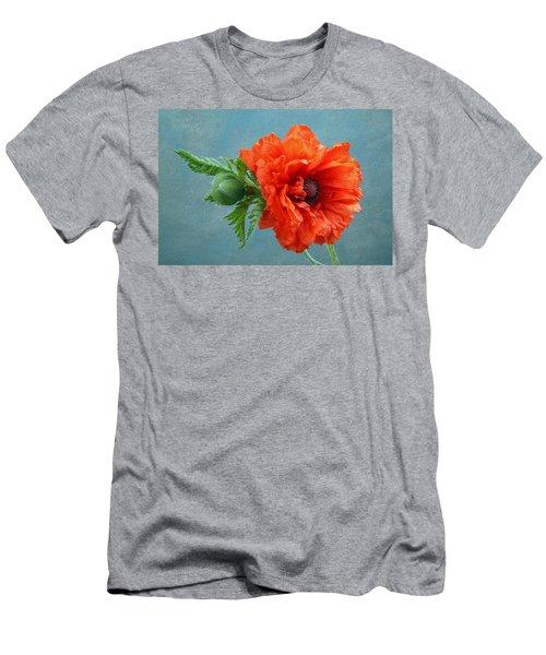 Poppy Flower Men's T-Shirt (Athletic Fit)