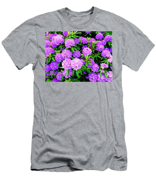 Pops Of Purple Men's T-Shirt (Athletic Fit)
