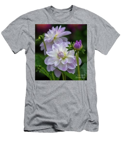 Porcelain Dahlia With Dewdrops Men's T-Shirt (Athletic Fit)