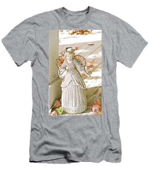 Porch Angel In The Fall Men's T-Shirt (Athletic Fit)