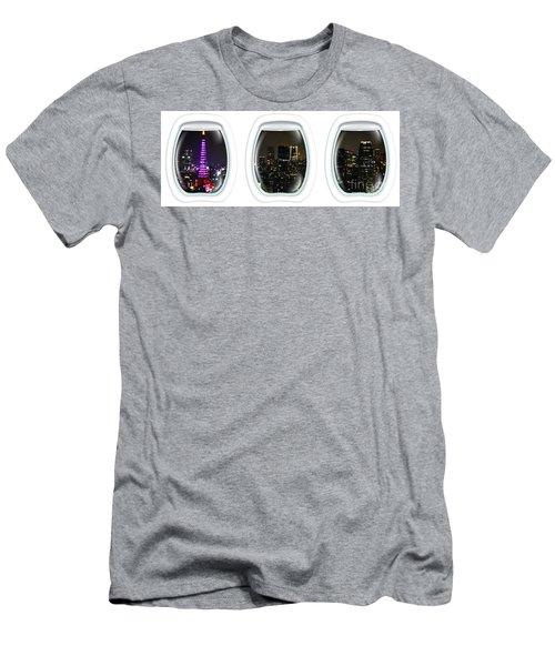 Porthole Frame On Tokyo Cityscape Men's T-Shirt (Athletic Fit)