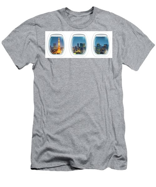 Porthole Frame On Tokyo Tower Men's T-Shirt (Athletic Fit)