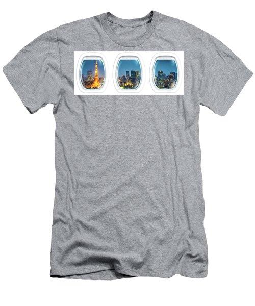 Porthole Frame On Tokyo Tower Men's T-Shirt (Athletic Fit)