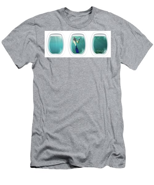 Porthole Windows On Coral Reef Men's T-Shirt (Athletic Fit)